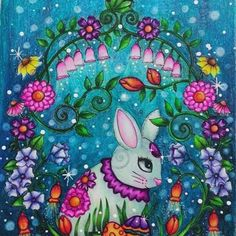 Feliz Páscoa para todos nós! Ilustração de Ebony Rainn #ebonyrainn #divadasartes #livroscoloriramo #colortherapy  #coloring_secrets  #boracolorirtop  #desenhoscolorir #artecomoterapia  #coloring_masterpieces