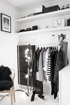 monochrome walk-in closet (via Stylizimo Blog) - my ideal home...