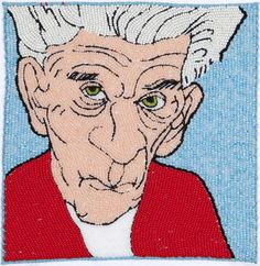 Samuel Beckett/Beaded Embroidery/7 Inches x 7 Inches/2008 michaelaaronmcallister.com