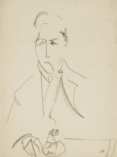 Amedeo Modigliani (1884-1920) Portrait de Jeanne Hébuterne pencil, pen and brown ink on paper 48.4 x 30.4 cm Jeanne Hébuterne (1898-1920) Self portrait charcoal on paper 42 x 25.8 cm Jeanne Hébuterne...