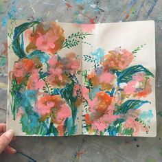 today's sketchbook . . . #painting #sketchbook #abstractflowers #dscolor #dsfloral #carveouttimeforart #pursuepretty #artist  #iloveflowers #inspiredbynature #abmlifeiscolorful #timeforcreativesouls #flaming_abstracts #floral #flaming_abstracts #expressionism #sonalmix