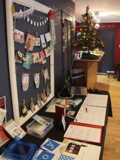 Stampin' Up! Holiday Catalogue  creativeJax Christmas Open House 2013 Sign up table