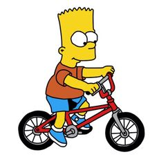The Simpsons Movie, Simpsons Characters, 18th Birthday Cake For Guys, Bike Illustration, Cartoon Wallpaper, Bicycle, Stickers, Art Ideas, Rocks