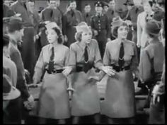 "The Andrews Sisters - ""Boogie Woogie Bugle Boy Of Company B"", the scene right from the 1941 Bud Abbott and Lou Costello film, ""Buck Privates"".......I remember watching this in the 50s...either in a theatre or maybe on tv....can't remember...lol...anyway, it's just the best!!!!"