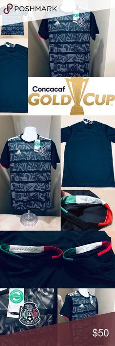 76bf5bfc5 2019 Mexico Gold Cup Soccer Jersey Home CONCACAF 2019 Mexico National Soccer  Football Team • Futbol · Gold CupAdidas ShirtAdidas ...