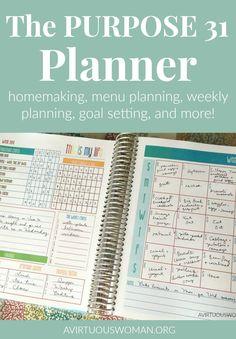The Purpose 31 Planner @ AVirtuousWoman.org