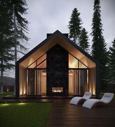 32 The Best Modern Rural House Exterior Design Ideas - Country homes have a warm, welcoming feeling. While the concept of these homes originated in the rural countryside, today country homes are located in. Barn House Design, Modern Barn House, Modern Mansion, Modern House Design, Contemporary Design, Exterior Tradicional, Br House, Rural House, Latest House Designs