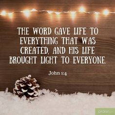 John 1:4 (NAS) In Him was life, and the life was the Light of men. https://www.facebook.com/PraiseOnline/photos/1042662292528429