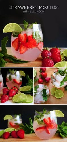 Strawberry Mint Mojitos