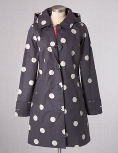 I would want rain if I could wear a cute raincoat like this one!