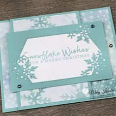 Stampin Up Christmas, Christmas Tag, Christmas Greetings, Snowflake Cards, Snowflakes, Xmas Cards, Holiday Cards, Handmade Birthday Cards, Handmade Cards