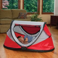 """Love the KidCo PeaPod™ - it is a """"must have"""" for traveling with twins. Less space than packing up two pack and plays."""