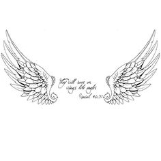 NewAdam Apparel — My wife's favorite verse.wings tattoo design (without text)No photo description available. Mom Tattoos, Friend Tattoos, Future Tattoos, Body Art Tattoos, Small Tattoos, Sleeve Tattoos, Tattoos For Women, Tattoos For Guys, In Memory Tattoos