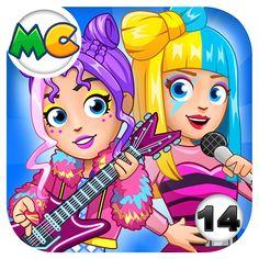 Really Fun Games, Create Your Own World, Mini Games, My Town, Imaginative Play, Free Games, Princess Peach, City, Mac