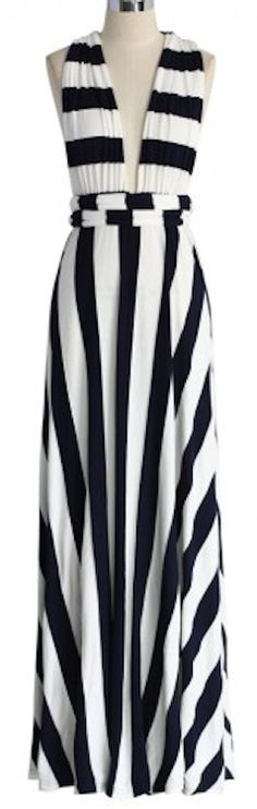 Loving this striped self-tie maxi dress - on sale for $59