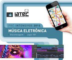 Arte de divulgação da temporada de pré-intensivos 2014 - Música Eletrônica