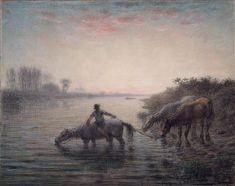 Watering Horses | Jean-François Millet | Famous Pastel Art | Artists Network