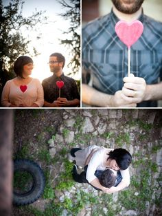 heart engagement session