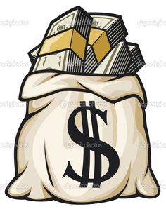 Illustration of Money bag with dollar sign vector illustration money bag filled dollars vector art, clipart and stock vectors. 4 Tattoo, New Tattoos, Tattoo Drawings, Tatoos, Badass Drawings, Arte Dope, Dope Art, Money Bag Tattoo, Dollar Tattoo