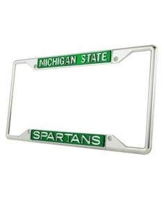 michigan state university domed mini logo license plate frame at campus den michigan state pinterest michigan state university - Michigan State License Plate Frame