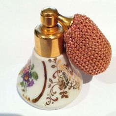 Vintage Small Limoges Perfume Bottle With Vintage Atomizer Rare Bottle   eBay