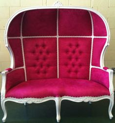 pink chaise lounge | Pink White Porter Domed Bonnet Chaise Lounge