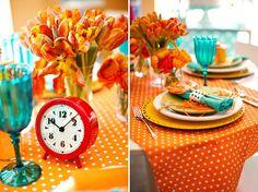 Orange & Blue party ideas