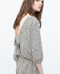 ZARA - NEW THIS WEEK - SPOTTED JUMPSUIT