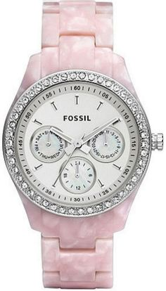 Fossil ES2791 pink with white