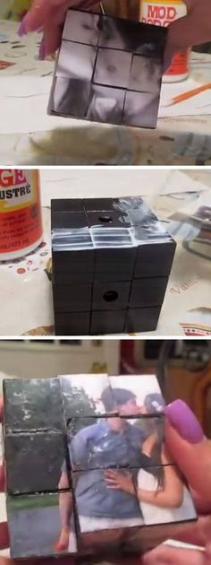 DIY Photo Rubiks Cube | Click Pic for 29 DIY Christmas Gift Ideas for Men | Last Minute DIY Christmas Gifts for Friends