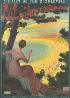 chemins de fer d'orléans - Plage de Pornichet - La Baule - Le Pouliguen - 1912 - illustration de Eugène Zigliara - France -