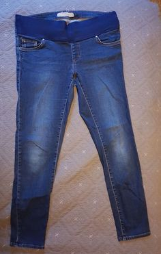 4d147be2a3ca9 Topshop Maternity Jeans 10 Leigh Mid Blue Leg 30 Under Bump #fashion # clothing #
