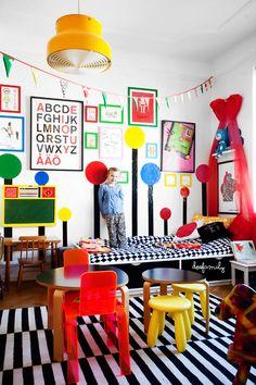 Raddest kids room around! my scandinavian home: A happy home in Malmö