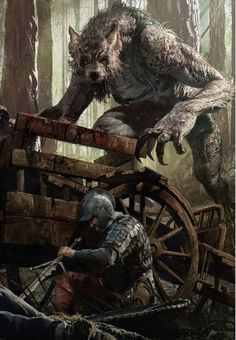 Vincent Werewolf - Illustration done for GWENT: The Witcher Card Game - © CD Projekt RED Captain of the city guard in Vizima, he has a wry sense of humour, but overall seems to be a fair man. Secretly, Vincent is a werewolf, hunting criminals of Vizima at Dark Fantasy Art, Fantasy Artwork, Fantasy Kunst, Dark Art, Arte Horror, Horror Art, Horror Comics, Witcher Art, The Witcher