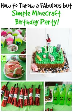 How To Throw A Simple Minecraft Birthday Party - Part 2! from @kitchenmagpie