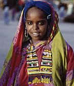 An attractive Oromo girl in the medieval walled city of Harar.