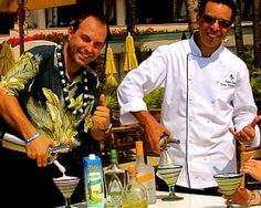 Jeremy Sidman and Rabii Saber creating the Manele Margarita