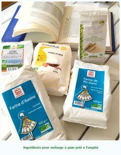 Mélange de farines pour pain : recette n° 1, sans amidons, sans gommes {une recette sans blé, orge ou seigle} - MakanaiMakanai
