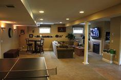 A Finishing Basement Reconstruction to Increase Your Home Value  basement construction, basement wall reconstruction #basement #remodeling #bar
