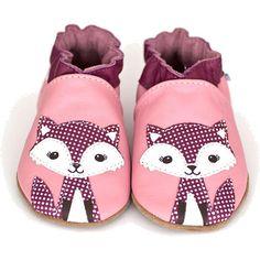 Robeez Girls Finleigh Fox Pink Soft Sole Slip On Shoe