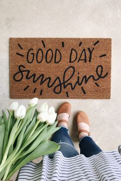 Who knew a doormat could make it a good day every day?