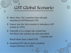 Gst global scenario more than 140 countries have already gst global scenario more than 140 countries have already introduced gstnational vat france stopboris Choice Image