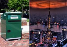 Solar-powered trash cans speak out directions to loos in Shanghai