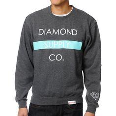 http://www.zumiez.com/diamond-supply-co-bar-charcoal-crew-neck-sweatshirt.html Diamond Supply Co. Crewneck