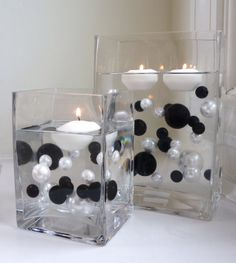 Amazon.com: Unique Elegant Vase Fillers 80Pc. Value Pack Jumbo Black and White Pearls with Black & Sparkling Diamonds and Gems Accents ........