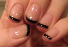 Pretty Black French Manicure!