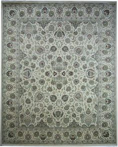 Kashan rugs are most famous of Persian carpet design for their expansive floral patterns and all-over Shah Abbas field.  http://www.alrug.com/4389