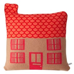 Pink and orange pillow from Reform School.