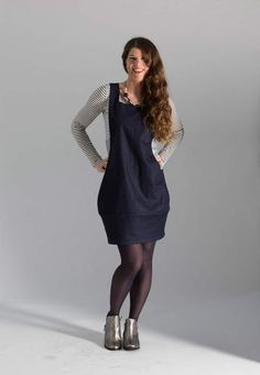 Scoop Pinafore sewing pattern from Sew Different find out more and read reviews on The Fold Line
