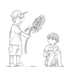 Hide and Kaneki. // Babies ;A;